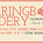 Free Shipping at Herringbone Bindery on Etsy!