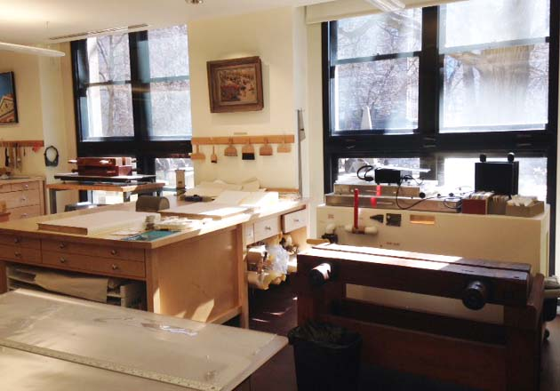conservation lab in a historical building