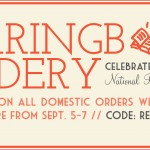 Free Shipping at Herringbone Bindery Etsy – Celebrate National Read a Book Day