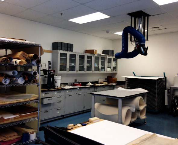 example of a university conservation lab
