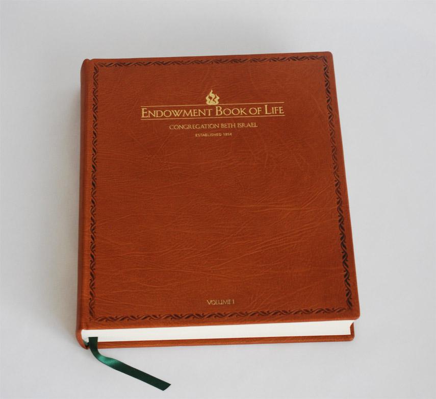 Bookbinding gallery herringbone bindery endowment book of life for congregation beth israel solutioingenieria Images